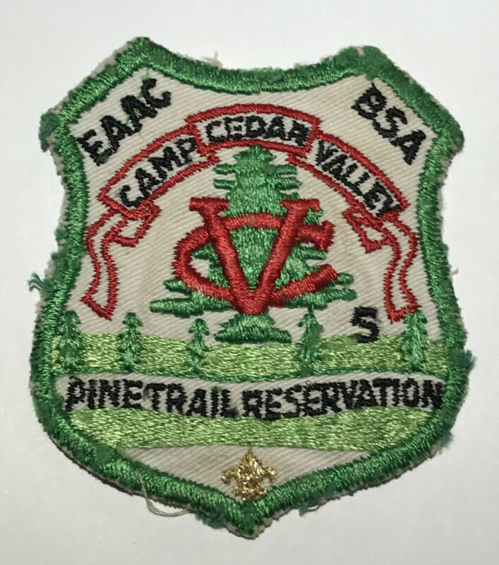 Camp Cedar Valley Arkansas Pine Trail Reservation patch MH6