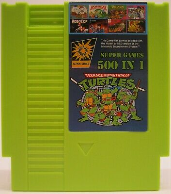 Super Games 500 in 1 Nintendo NES Cartridge Multicart - TMNT