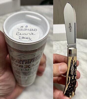 RARE 1 of 24 New Great Eastern Cutlery 72 LockBack Burnt Stag 722113LB GEC Fat S