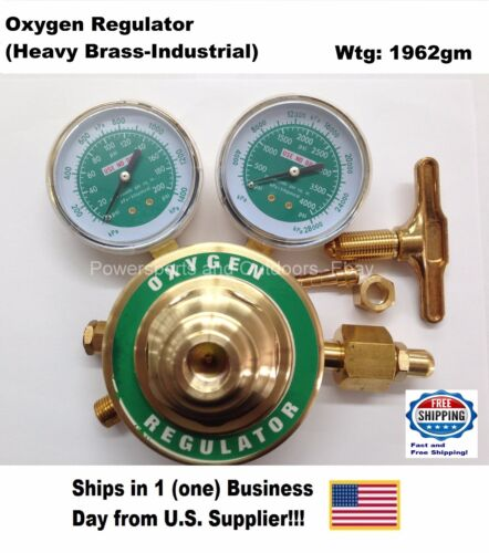 Oxygen Regulator (Heavy Brass-Industrial) US Supplier!