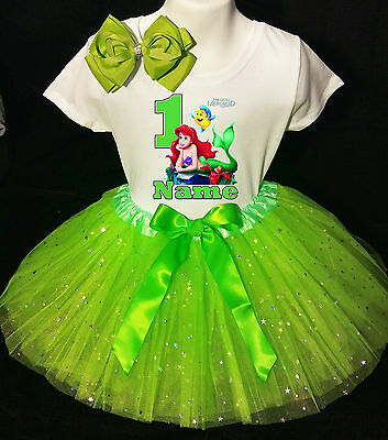 Little Mermaid **With NAME** 1st first 1 Birthday Green Tutu dress Fast Shipping](Little Mermaid 1st Birthday Party)