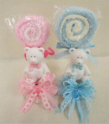 Ceramic Teddy Bear Party Favor- Baby Shower Gender Reveal-3pcs