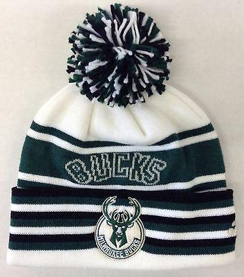NBA Milwaukee Bucks Adidas Cuffed Pom Winter Knit Cap Hat Beanie Style #KX05Z](Milwaukee Bucks Winter Hat)