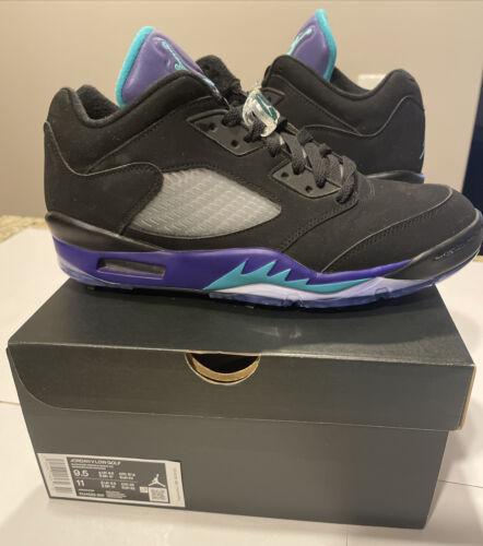 Nike Air Jordan 5 V Low G Black Grape Golf Shoes CU4523-001 Sz 9.5 - $200.00
