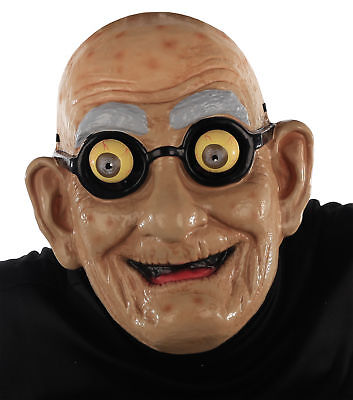 Googly Eyes Halloween Face (Grandpa Old Man Mask Crazy Googly Eyes Wrinkled Face)