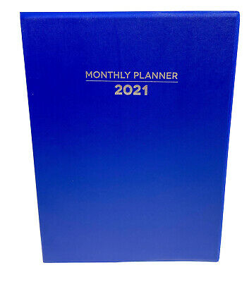 2021 Monthly Planner 7.5 X 10 Calendar To Do List Blue Schedule