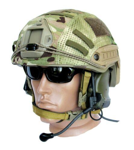 Ballistic IIIA Bullet Proof Helmet High Cut Coyote Tan + cover Multicam