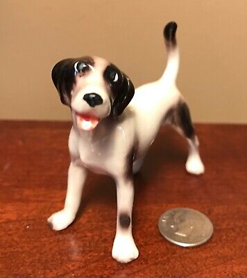 Hagen-Renaker Mini #4048 HAPPY HOUND - Miniature Ceramic Dog Figurine