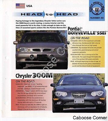 Head to Head  Bonneville SSEi Chrysler 300M IMP Brochure Specs Group 11, No 30