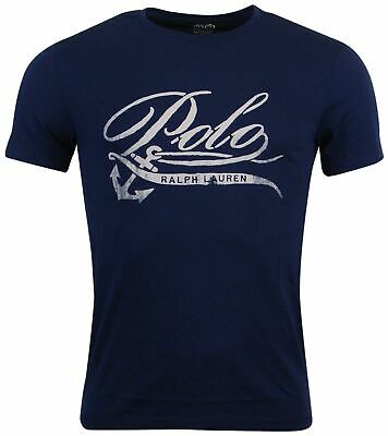 - Polo Ralph Lauren Men's 100% Cotton Custom Fit Graphic T-Shirt-Navy-2XL