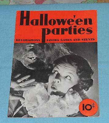vintage 1935 Halloween HALLOWE'EN PARTIES Bogie Book by Dennison's