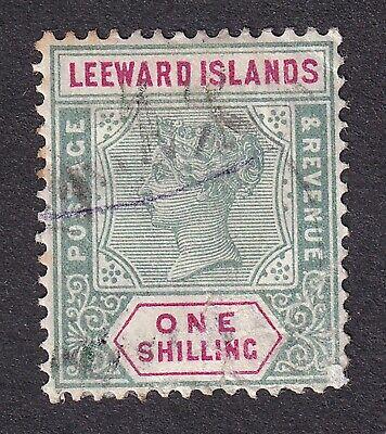 Leeward Island 1890 1/- green/carmine used
