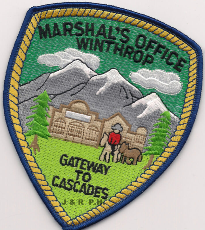 """Winthrop - Marshal, WA  """"Gateway to Cascades""""  shoulder police patch (fire)"""