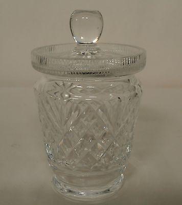 Edinburgh Cut Crystal Montrose? Jelly / Jam / Marmalade Jar with Slotted Lid