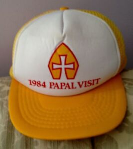 Cap from the 1984 Papal Visit Of Pope John Paul II to Toronto