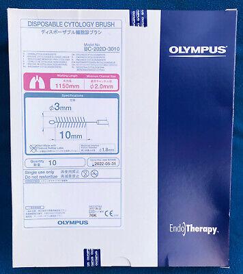 Box Of 10 Olympus Disposable Cytology Brush - Model Bc-202d-3010 - New
