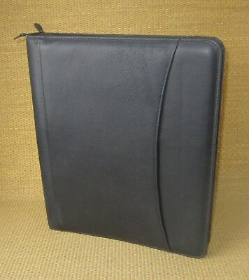 Monarchfolio 1.25 Rings New Black Leather At-a-glance Plannerbinder Usa