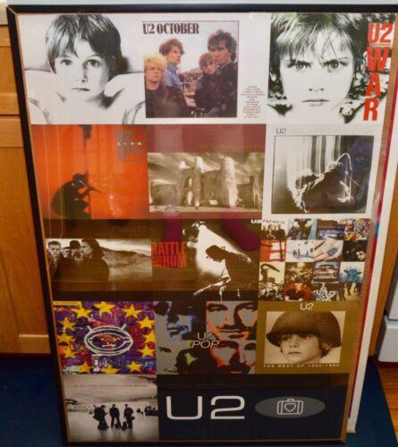 U2 Album Photos Poster Concert Tour Vintage 34x22 Heart Suitcase Airport