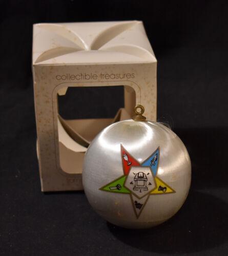 VTG Christmas Ornament Freemason Mason STAR - Silk Thread Ball - Campus MASONIC