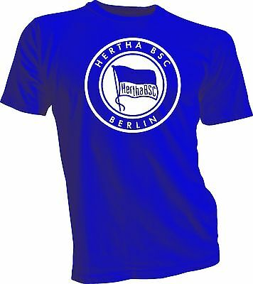 Hertha BSC Berlin Germany Bundesliga UEFA Footbal Soccer T shirt Handmade New - Hertha Bsc Berlin