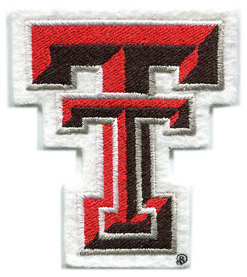 "Texas Tech Rosso Raiders NCAA College 3 "" Team Lettere Logo Patch"