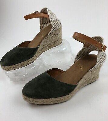 Maypol Anthropologie Macaret Espadrille Sandals Sz38 US8 Made In Spain $129
