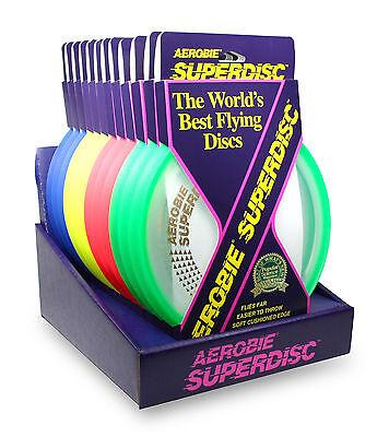 1 Aerobie Superdisc Frisbeescheibe mit Gummirand liegt prima in der Luft  Neu