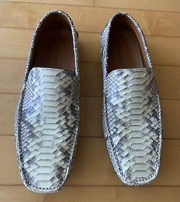 Baldinini Men's Python leather White- gray Boots Size EU 43/ US 10,5