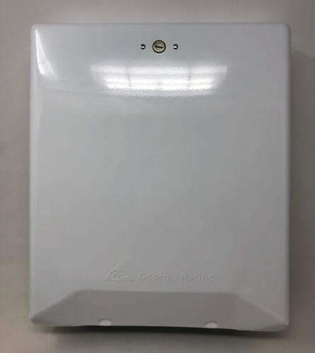 Georgia-Pacific 56601  White Metal C-Fold/Multi-Fold Paper Towel Dispenser
