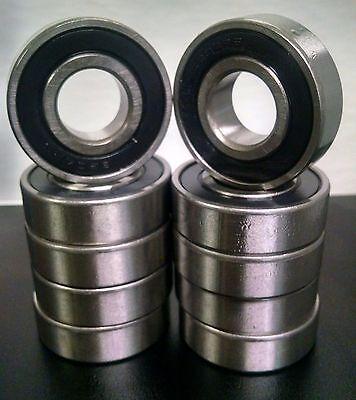 Qty-10 6204-2rs Emq Premium Double Sealed Bearing 20x47x14mm 6204 Rs