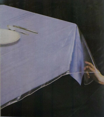 Clear as Glass Durable 100% Vinyl Tablecloth protector by RL Plastic® (Clear Plastic Tablecloth)