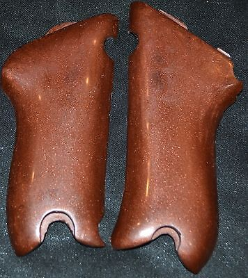 German P08 Luger pistol grips smooth antique copper plastic for sale  Gabbs