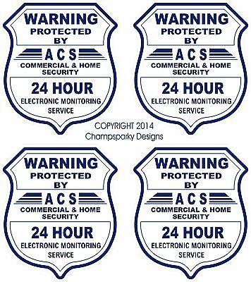 4 Gps Video Surveillance Security Burglar Alarm Decal Warning Sticker Signs
