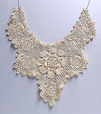 Antique Fine Irish Crochet Lace Child Size Collar - Victorian/Edwardian
