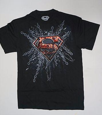 Super man Symbol chains DC Comics Black NWOT Small Medium  - Super Man Symbol