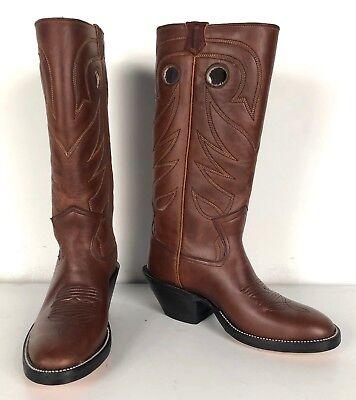 Jose Sanchez Boots, 7D Men's Buckaroo Brown Mulehide Working Cowboy (Buckaroo Work Western Boot)