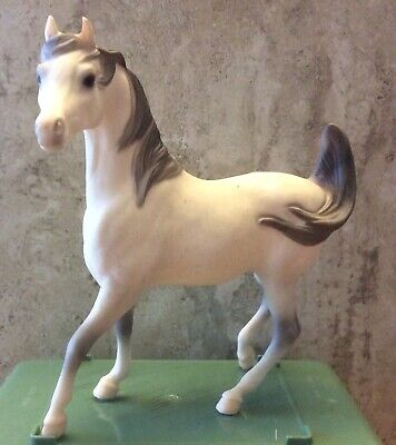 Vintage Breyer #411 Prancing White Arabian Stallion - RARE - Pristine Condition