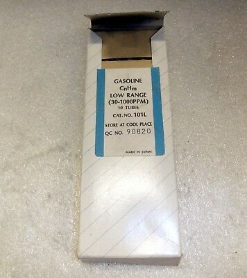 Lot Of 10 Sensidyne Gasoline Analyzer Tube 101l 30-1000 Ppm