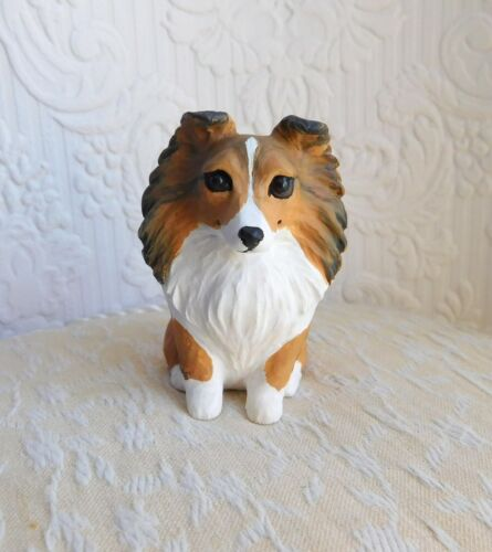 Sheltie or Collie Resin Sculpted mini Furever Clay Collectible dog sculpture