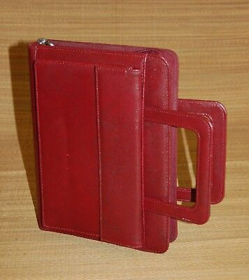 Classic Red Franklin 365 Covey Planner Binder Faux Leather Handles 1 Rings