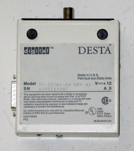 Genuine DEC DESTA AUI To 10BASE5 Network Transceiver (MAU) Vampire Tap -- Unused