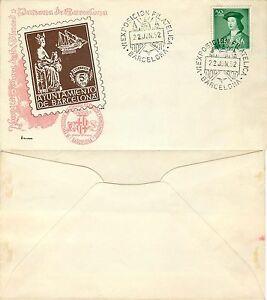547-Spagna-Annullo-speciale-Esposizione-filatelica-a-Barcellona-22-06-1952