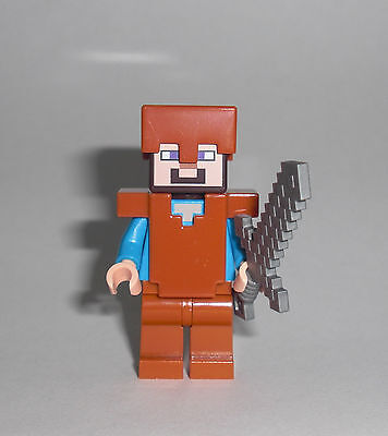 LEGO Minecraft - Steve mit Lederrüstung - Figur Minifig Leder Dschungel 21132 ()