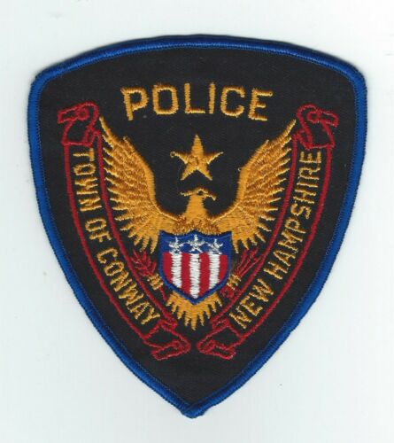 VINTAGE CONWAY, NEW HAMPSHIRE POLICE (CHEESE CLOTH BACK) patch