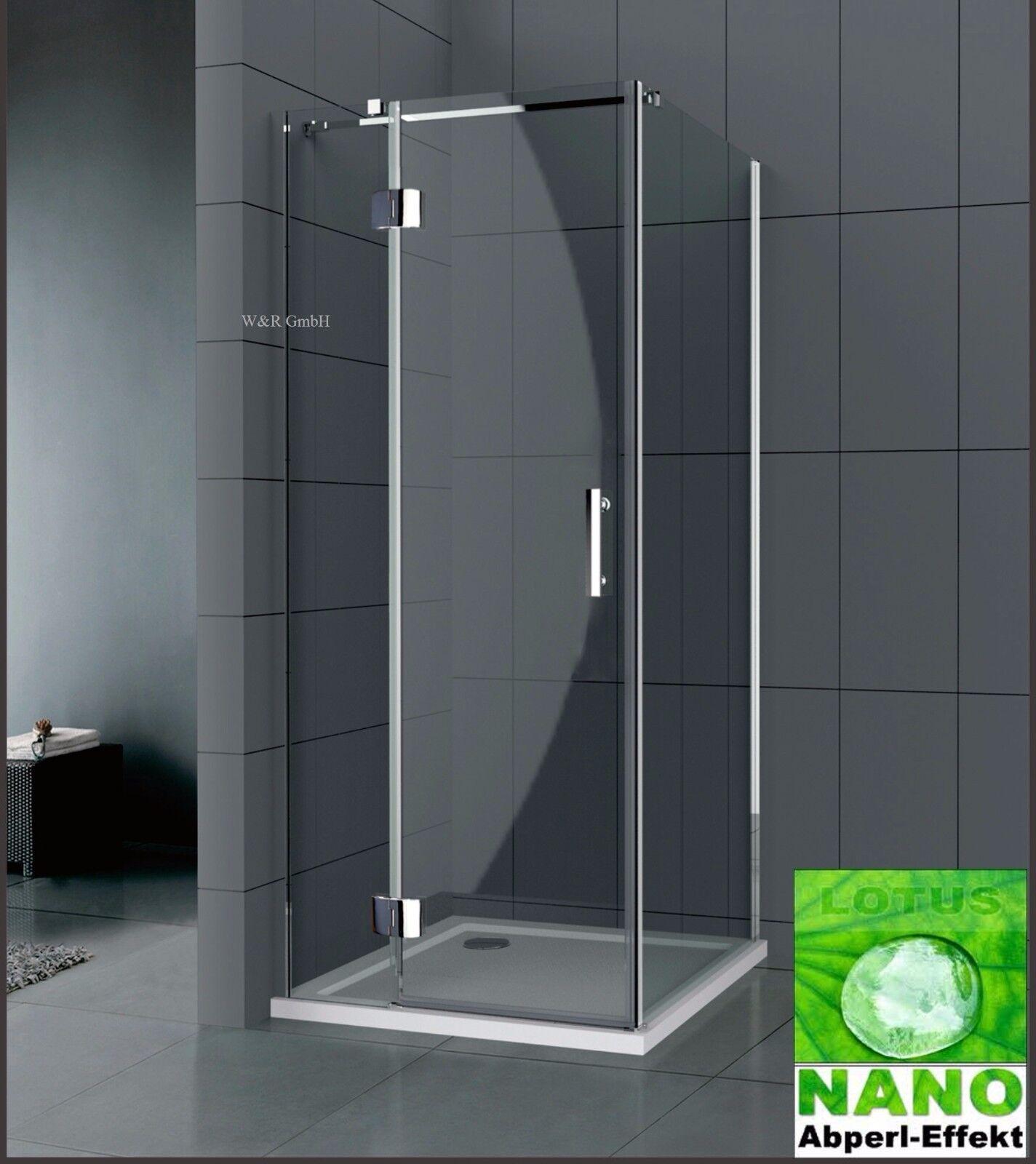 Duschkabine Duschabtrennung Dusche Bad Duschwand 8 mm Nano Echtglas Glas WN