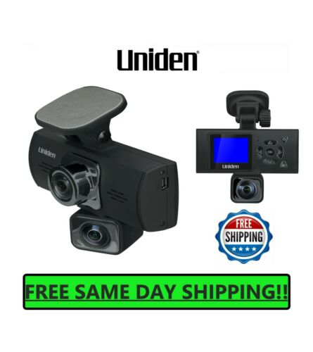 UNIDEN Dash Cam Dual Camera Auto Video Recorder Front Rear 1080P Mount Mirror