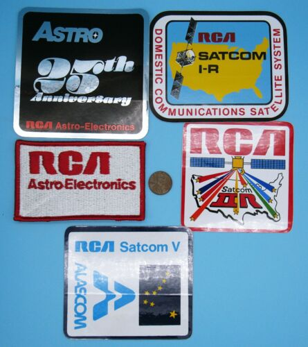 RCA EMPLOYEE Lot vtg ASTRO 25th Anniversary SATCOM IIR / V / I-R SATELLITE NASA
