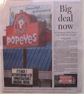 News Clippings  Boston Globe Feb  20  2015 Malcolm Butler Superbowl Xlix Hero