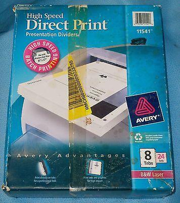 Avery Direct Print Laser Printer Presentation Dividers, 8-Tab, 24 Sets - #11541 ()