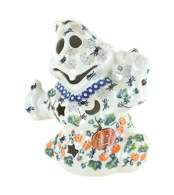 Blue Rose Polish Pottery Spider Web Ghost